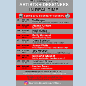 Noteworthy Artists and Designers Share Their Stories with Students and the Public
