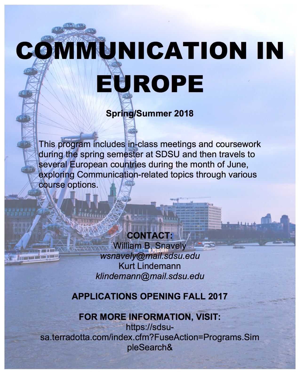 Communication Summer in Europe