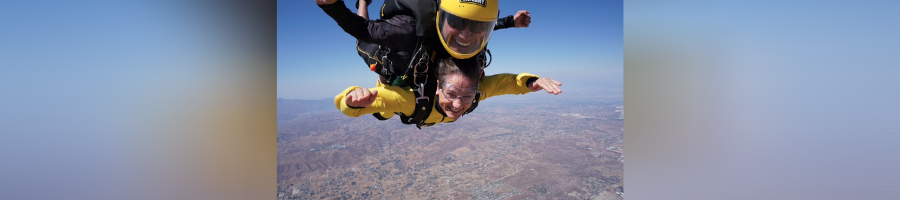 PSFA Assistant Dean for Student Affairs Skydives with Army Golden Knights