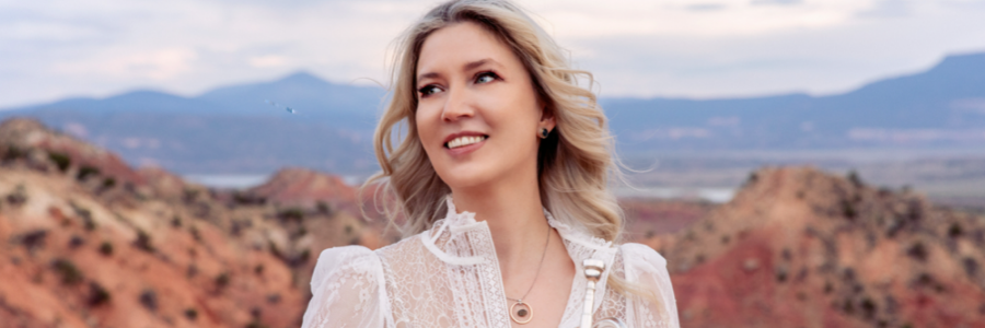 Mary Elizabeth Bowden performs with the SDSU Orchestra