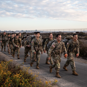 SD U-T: SDSU ROTC Cadets Honor Service Members Killed at Kabul Airport with 13-Mile 'Ruck March'