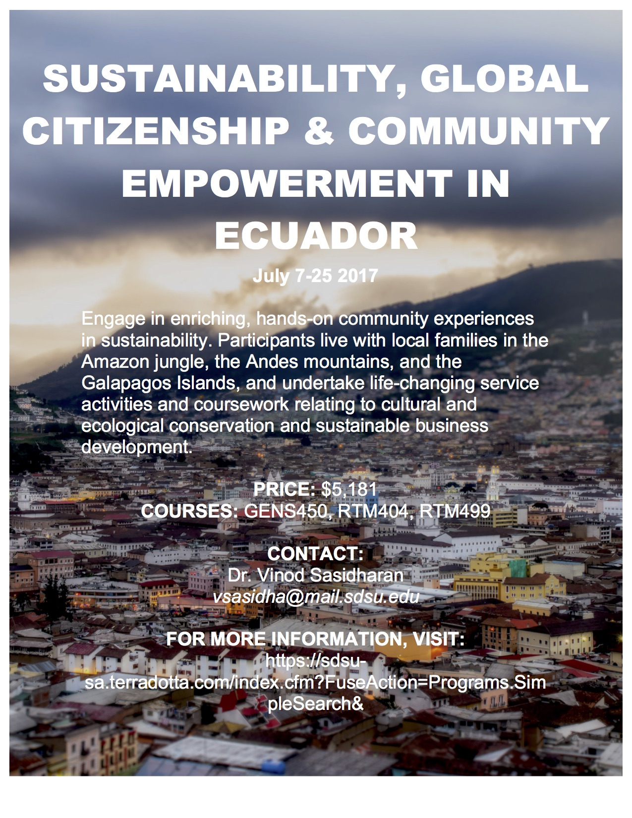Sustainability, Global Citizenship, and Community Empowerment in Ecuador