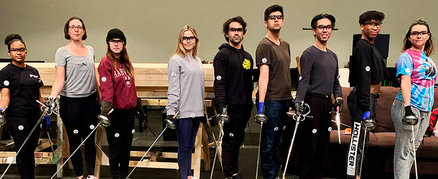 Theatre Students Learn Theatrical Sword Fighting