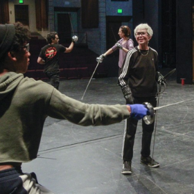 Union-Tribune: Former TTF Dean Takes Center Stage Teaching Theatrical Swordfighting Course