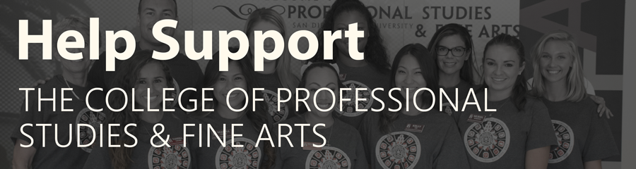 Help support Professional Studies and Fine Arts