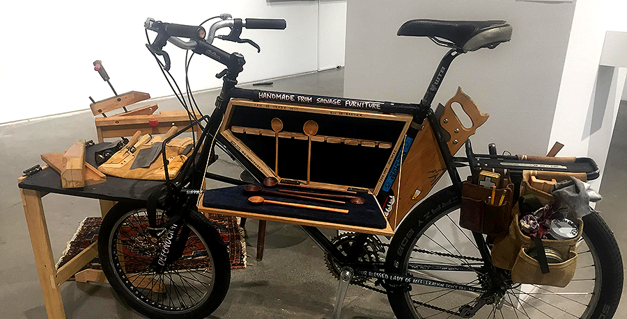 Mobile Bike Studio, a Utilitarian Work of Art by MFA Candidate, on Display at SDSU Downtown Gallery